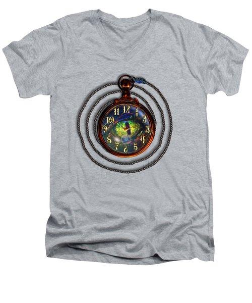 Just A Matter Of Time Men's V-Neck T-Shirt