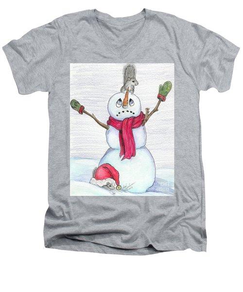 Just A Snack Men's V-Neck T-Shirt