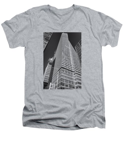 Just Another Skyscraper 2 Men's V-Neck T-Shirt by Sabine Edrissi