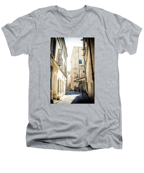 Men's V-Neck T-Shirt featuring the photograph Just Around The Curve... by Jason Smith