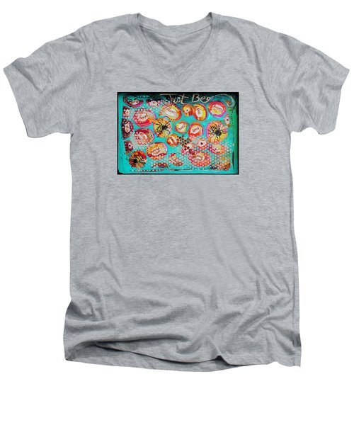 Just Bee Men's V-Neck T-Shirt by DAKRI Sinclair