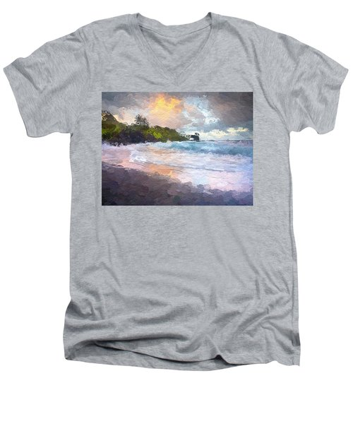 Just Before Sunrise Men's V-Neck T-Shirt by Anthony Fishburne