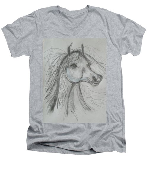 Just Free Men's V-Neck T-Shirt by Sharyn Winters