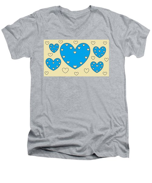 Just Hearts 4 Men's V-Neck T-Shirt