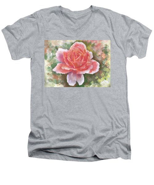 Just Joey Rose From The Acrylic Painting Men's V-Neck T-Shirt