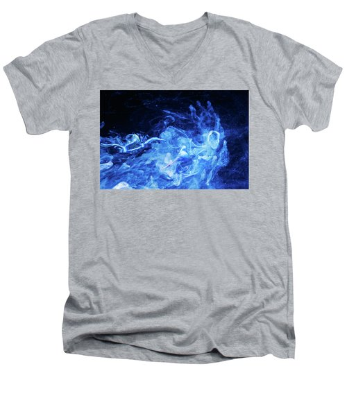 Just Passing By - Blue Art Photography Men's V-Neck T-Shirt