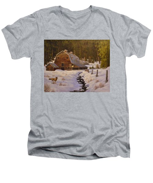 Just Passing Through Men's V-Neck T-Shirt