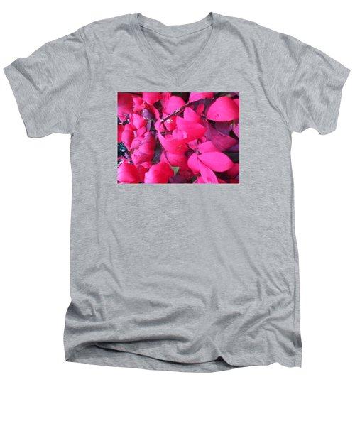 Just Red/pink Men's V-Neck T-Shirt