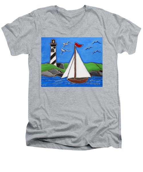 Just Sailing By Men's V-Neck T-Shirt