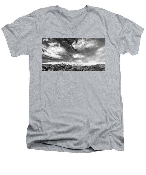 Just The Clouds Men's V-Neck T-Shirt by Jon Glaser