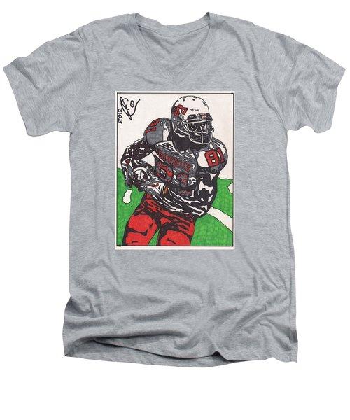 Justin Blackmon 2 Men's V-Neck T-Shirt by Jeremiah Colley