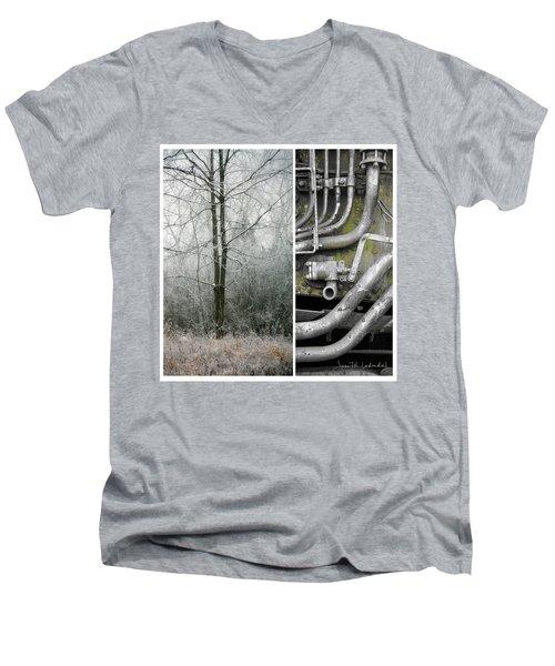 Juxtae #61 Men's V-Neck T-Shirt by Joan Ladendorf
