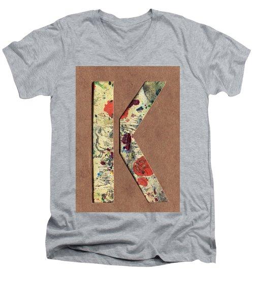 The Letter K Men's V-Neck T-Shirt