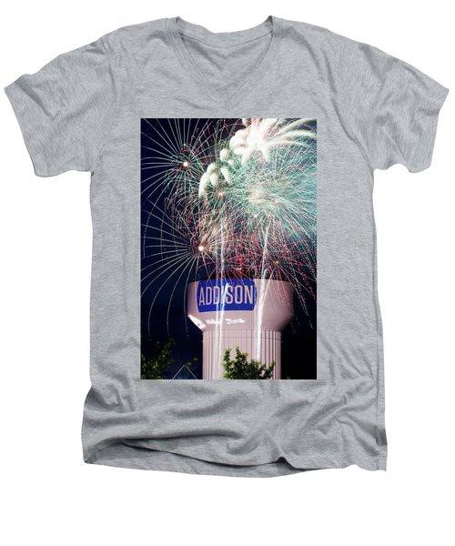 Kaboom Town 72316 Men's V-Neck T-Shirt