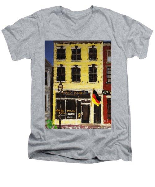 Kaffee Vonsolln Men's V-Neck T-Shirt