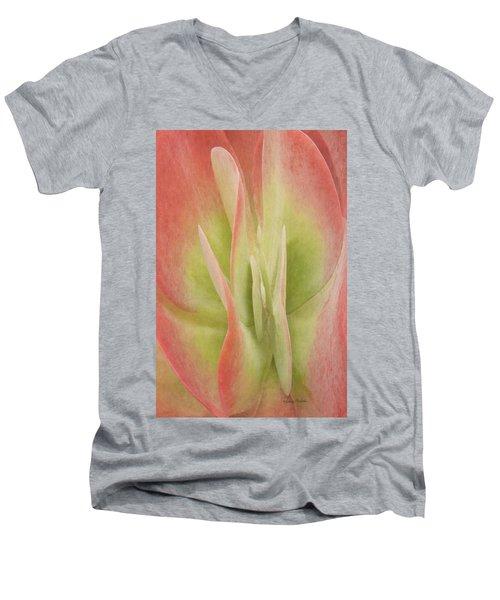 Kalanchoeluciaesucculent Men's V-Neck T-Shirt