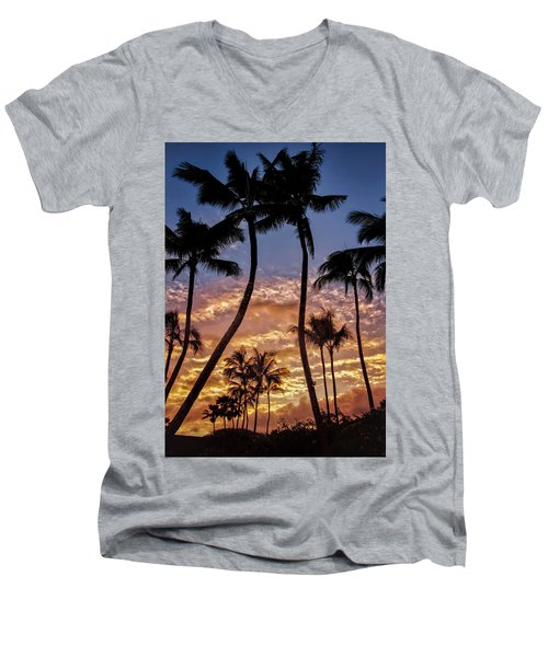 Kalapki Sunset Men's V-Neck T-Shirt