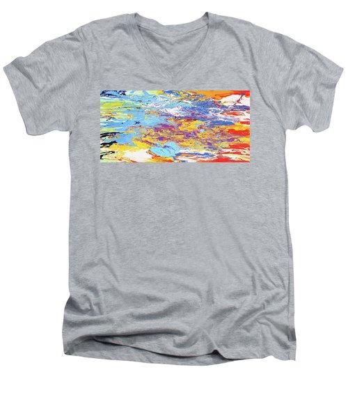 Kaleidoscope Men's V-Neck T-Shirt by Ralph White