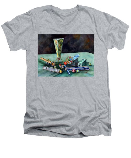 Kaleidoscopes Men's V-Neck T-Shirt