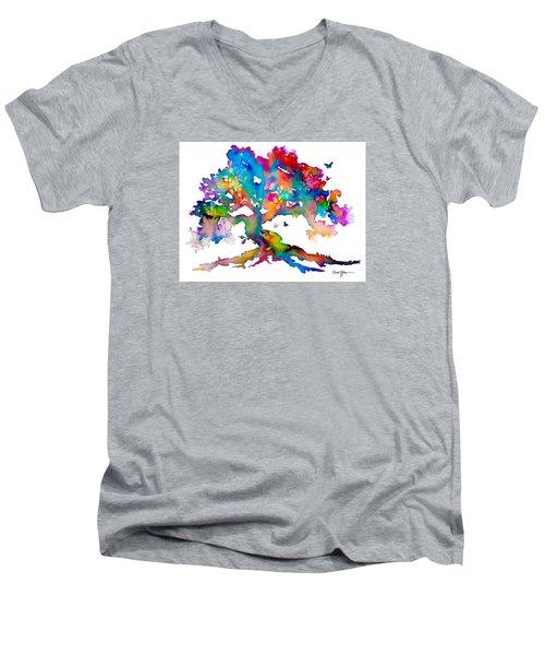 Da186 Kelly's Tree    Daniel Adams Men's V-Neck T-Shirt