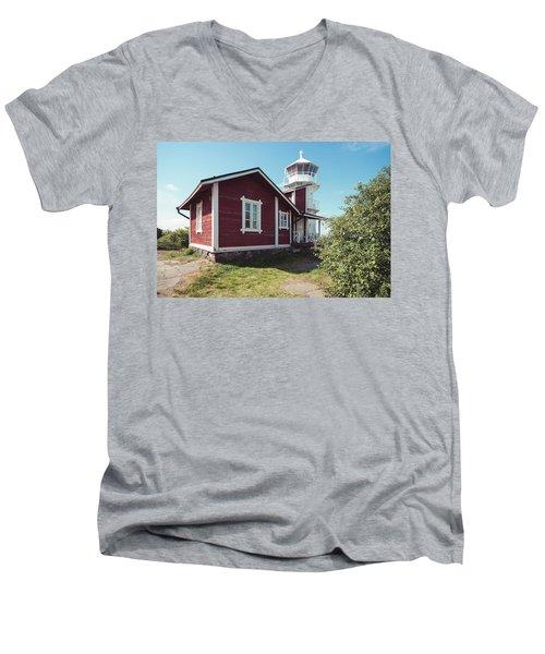 Men's V-Neck T-Shirt featuring the photograph Kallo Lighthouse by Ari Salmela