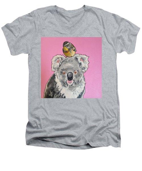 Kalman The Koala Men's V-Neck T-Shirt
