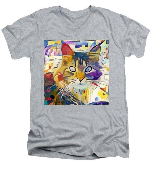 Kandinsky Cat Men's V-Neck T-Shirt