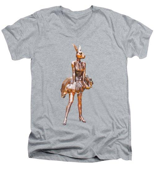 Kangaroo Marilyn Men's V-Neck T-Shirt