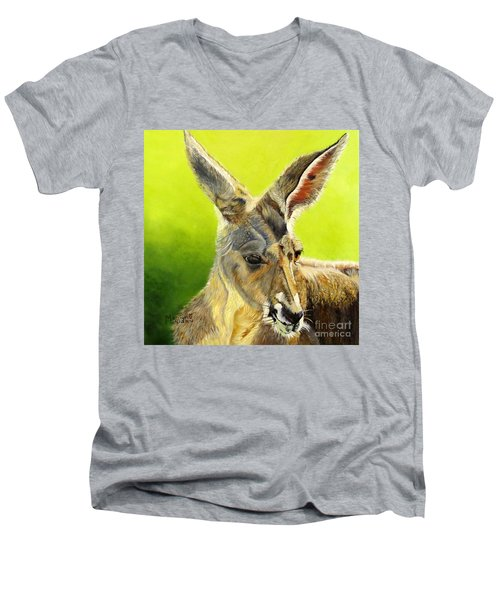 Kangeroo Men's V-Neck T-Shirt