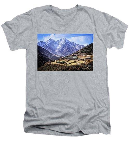 Kangtega And Thamserku Men's V-Neck T-Shirt