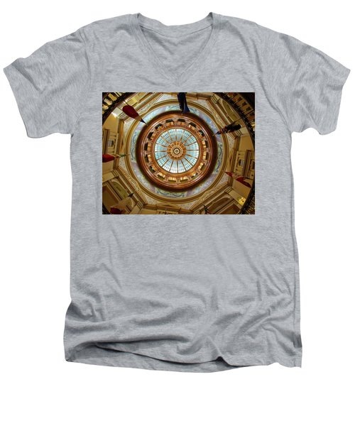 Men's V-Neck T-Shirt featuring the photograph Kansas Dome by Jim Mathis