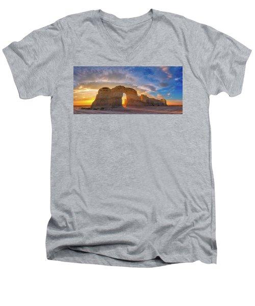 Kansas Gold Men's V-Neck T-Shirt by Darren White