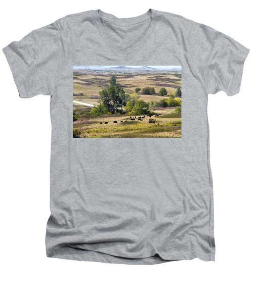 Kansas Plains  Men's V-Neck T-Shirt