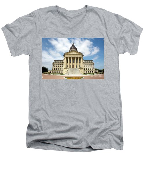 Kansas State Capitol Building Men's V-Neck T-Shirt