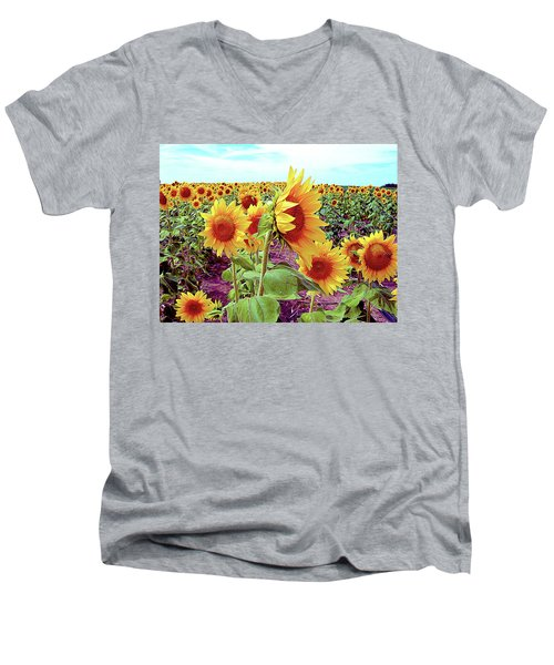 Kansas Sunflowers Men's V-Neck T-Shirt