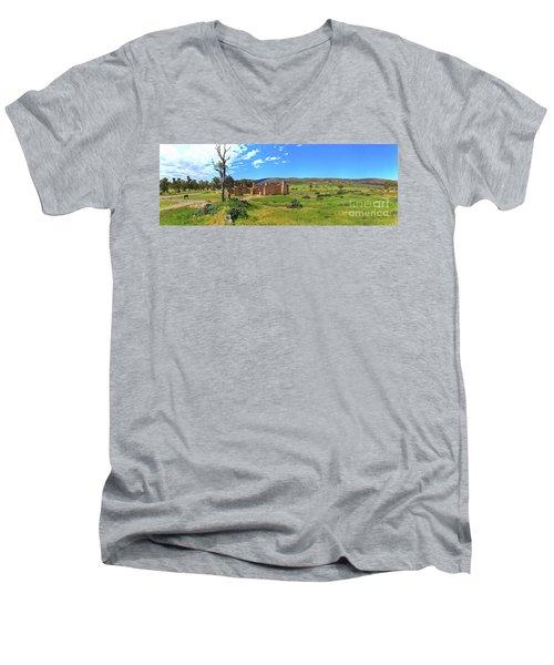Kanyaka Homestead Ruins Men's V-Neck T-Shirt by Bill Robinson