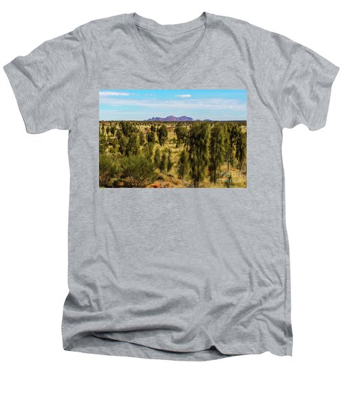 Men's V-Neck T-Shirt featuring the photograph Kata Tjuta 01 by Werner Padarin