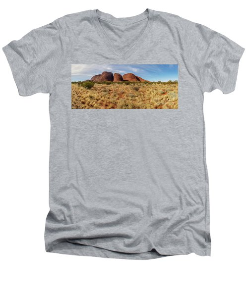 Men's V-Neck T-Shirt featuring the photograph Kata Tjuta 10 by Werner Padarin