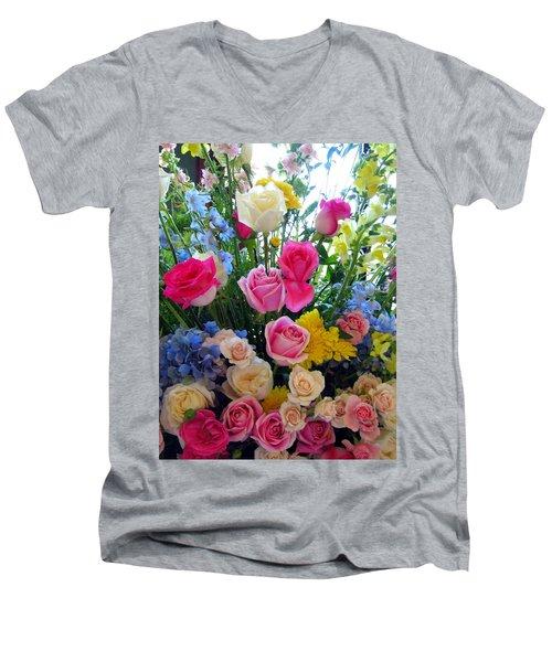 Kate's Flowers Men's V-Neck T-Shirt