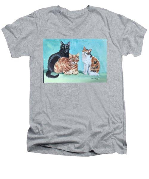 Kates's Cats Men's V-Neck T-Shirt