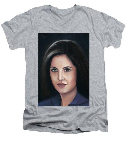 Katrina Kaif - Pastel Men's V-Neck T-Shirt