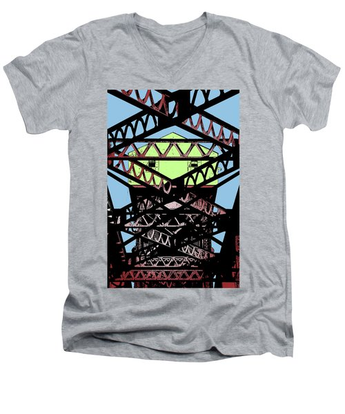 Katy Trail Bridge Men's V-Neck T-Shirt by Christopher McKenzie
