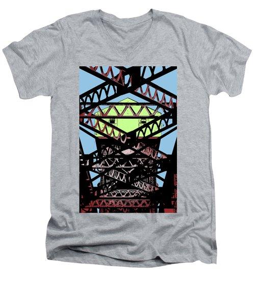 Katy Trail Bridge Men's V-Neck T-Shirt