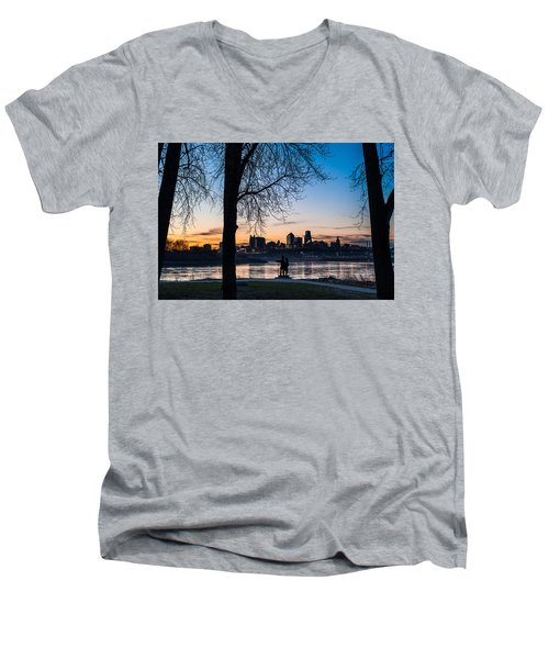 Kaw Point Park Men's V-Neck T-Shirt