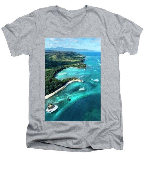 Kawela Bay, Looking West Men's V-Neck T-Shirt