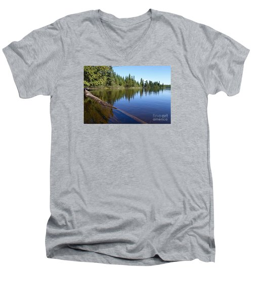 Men's V-Neck T-Shirt featuring the photograph Kayaking Serenity by Sandra Updyke