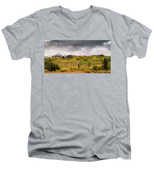 Men's V-Neck T-Shirt featuring the photograph Kebler Pass by Stephen Holst