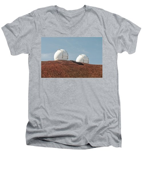Keck 1 And Keck 2 Men's V-Neck T-Shirt by Jim Thompson