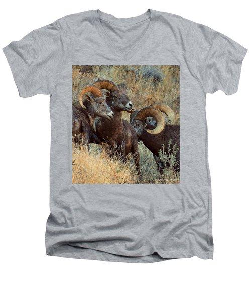 Keep An Eye On Him... Men's V-Neck T-Shirt by Steve Warnstaff