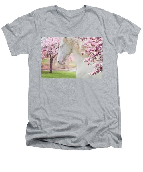 Keep Calm Spring Is Coming Men's V-Neck T-Shirt